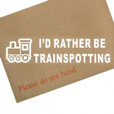 1 x I'd Rather be Trainspotting-Car Window Sticker-Sign-Trains,Steam,Engine,Station,Hobby